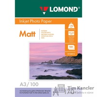 Фотобумага LOMOND Photo Quality, матовая, 2-сторонняя, А3, 170 г., 1 лист
