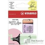 Набор текстовыделителей STABILO Boss mini Pastellove, 3 шт.