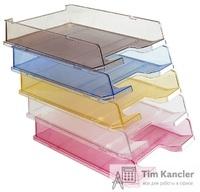 Лоток для бумаг HAN C4 interlinking, горизонтальный, прозрачный, A4