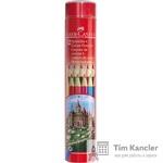 Карандаши цветные FABER-CASTELL, 12 цветов, в тубусе