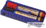 Стиратель магнитный MAGNETOPLAN с держателем для маркеров и 2 маркера