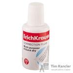 Корректирующая жидкость ERICH KRAUSE с губкой, 20 мл