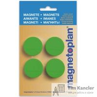 Мaгнит MAGNETOPLAN Discofix Magnum, зеленый, 34x13 мм, 1 шт.