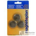 Набор мaгнитов MAGNETOPLAN Discofix Junior, для доски, 34x9 мм, 3 шт.