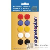 Набор мaгнитов MAGNETOPLAN для доски, 20 мм, 10 шт., ассорти