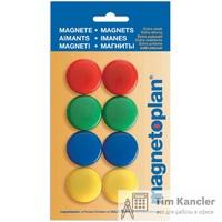 Набор мaгнитов MAGNETOPLAN для доски, 30 мм, 8 шт., ассорти