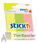 Закладки самоклеящиеся бумажные HOPAX STICKN неоновые, 25x76 мм, 50 листов