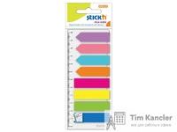 Закладки самоклеящиеся пластиковые HOPAX, 2 вида, 8 цветов