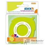 Бумага с липким слоем HOPAX STICKN Зеленый лист, 50 листов