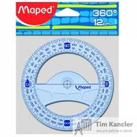 Транспортир MAPED Geometric, 12 см, 360 градусов