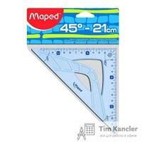 Угольник MAPED Geometric, 21 см, 45 градусов
