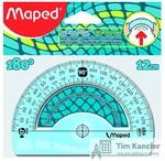 Транспортир MAPED Flex, 12 см, 180 градусов