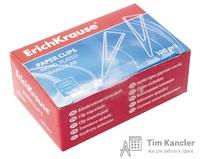 Скрепки никелированные ERICH KRAUSE, треугольные, 25 мм, 100 шт.