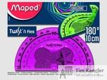 Транспортир MAPED Twistn Flex, 10 см, 180 градусов