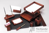 Настольный набор ERICH KRAUSE, 9 предметов и 2 ручки, подложка