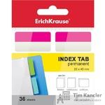 Ярлычки-закладки пластиковые ERICH KRAUSE, цветные, 22x40 мм, 36 листов