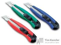 Нож канцелярский KW-TRIO с лезвием 18 мм, ассорти