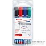 Набор маркеров EDDING 380 для флипчарта, 4 цвета, 1,5-3 мм