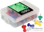 Кнопки-гвоздики DELI цветные, 35 шт.