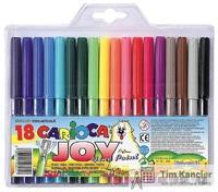 Фломастеры CARIOCA Joy, 18 цветов