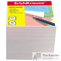 Блок для записей ERICH KRAUSE, не склееный, белый, 90 х 90 х 90 мм