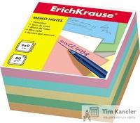 Блок для записей ERICH KRAUSE, не склееный, 90 х 90 х 50 мм, ассорти