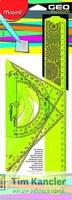 Набор чертежный MAPED Geocustom, 3 предмета