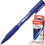 Ручка шариковая автоматическая Kores K6 трехгранный корпус синяя (толщина линии 0.5 мм)