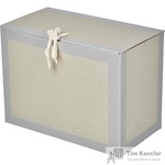 Короб архивный Attache из бумвинила серый 180 мм (нескладной, 2 х/б завязки, до 1700 листов)