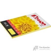 Бумага цветная для офисной техники Комус Color лимон интенсив (А4, 80 г/кв.м, 100 листов)