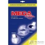 Этикетки самоклеящиеся Promega label белые 105х99 мм (6 штук на листе А4, 25 листов в упаковке)