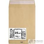 Пакет почтовый Extrapack С4 из крафт-бумаги с расширением стрип 229х324 мм (120 г/кв.м, 25 штук в упаковке)
