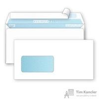 Конверт почтовый BusinessPost E65 (110x220 мм) белый удаляемая лента левое окно (1000 штук в упаковке)