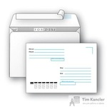 Конверт почтовый ForPost С6 (114x162 мм) Куда-Кому белый удаляемая лента (1000 штук в упаковке)