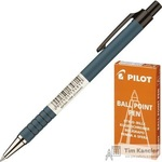 Ручка шариковая масляная автоматическая Pilot BPRK-10M синяя (толщина линии 0.32 мм)
