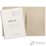 Папка-скоросшиватель Дело № картонная А4 до 200 листов белая (280 г/кв.м)