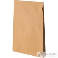 Пакет почтовый Gusset из крафт-бумаги стрип с расширением 280x400x40 мм (140 г/кв.м, 100 штук в упаковке)