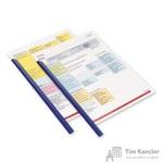 Скрепкошина для брошюровки Durable А4 синяя (до 60 листов)