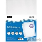 Файл-вкладыш Attache Selection Кристал А4+ 60 мкм гладкий прозрачный 10 штук в упаковке