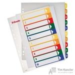 Разделитель листов Esselte А4+ пластиковый 10 листов (цифровой)