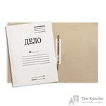 Папка-скоросшиватель Дело № картонная А4 до 200 листов белая (440 г/кв.м)