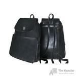 Рюкзак Парус из искусственной кожи черного цвета (537)