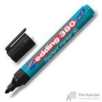 Маркер для флипчартов Edding E-380/1 cap off, черный, 2.2 мм