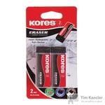Ластик Kores KE-20 Black виниловый черный (2 штуки в упаковке)