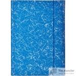 Папка на резинках Attache картонная синяя (370 г/кв.м, до 200 листов)