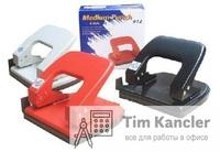 Дырокол KW-TRIO с линейкой, до 16 листов, ассорти