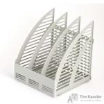 Вертикальный накопитель Attache пластиковый серый ширина 240 мм 3 отделения