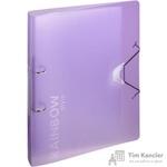 Папка на 2-х кольцах Attache Rainbow Style пластиковая 35 мм фиолетовая