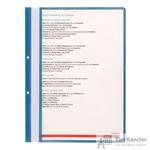 Папка-скоросшиватель Attache А4 с перфорацией синяя 10 штук в упаковке (толщина обложки 0.11 мм и 0.15 мм)