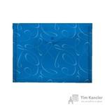Папка-конверт Комус Модерн на кнопке А4 синяя 0.18 мм